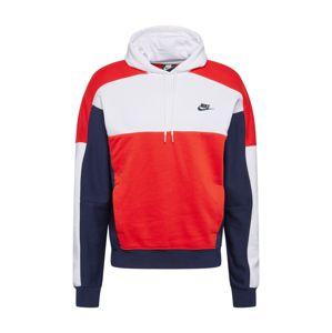 Nike Sportswear Mikina  námornícka modrá / červená / biela