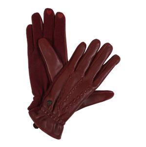 ESPRIT Prstové rukavice  vínovo červená