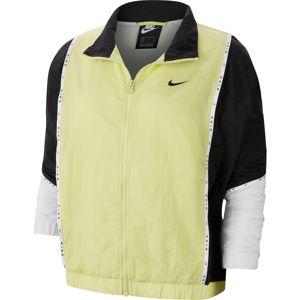 Nike Sportswear Prechodná bunda  biela / neónová žltá / čierna