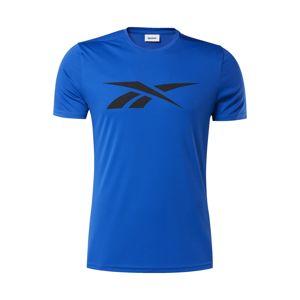 REEBOK Funkčné tričko  čierna / modré