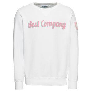 Best Company Mikina 'CREW'  biela
