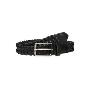 JACK & JONES Opasky 'JACCOLE BRAIDED LEATHER BELT'  čierna