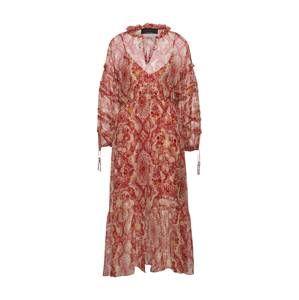 The Kooples Kokteilové šaty  béžová / červené