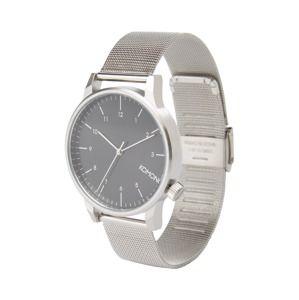 Komono Analógové hodinky 'Winston Royale'  čierna / strieborná