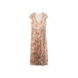 MANGO Plážové šaty  krémová / staroružová / pastelovo zelená
