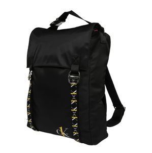 Calvin Klein Jeans Batoh 'CK1 XL TOP HANDLE BP TAPEALLOVER'  biela / čierna / žlté