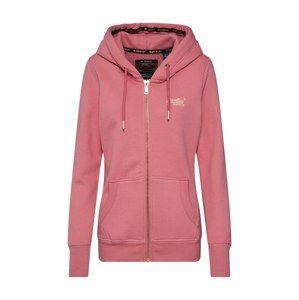 Superdry Tepláková bunda  zlatá / ružová
