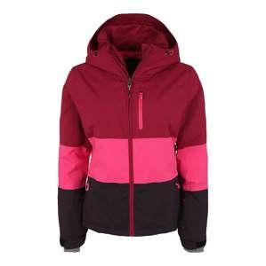 PROTEST Športová bunda 'Kemble'  farba lesného ovocia / ružová / čierna
