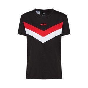 LEVI'S Tričko 'FLORENCE'  biela / červené / čierna
