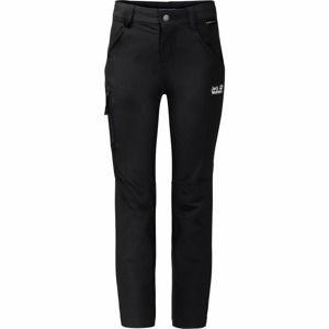 JACK WOLFSKIN Funkčné nohavice 'Activate'  čierna / biela