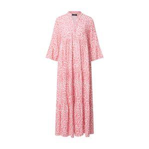 Zwillingsherz Šaty 'Fine'  ružová / biela