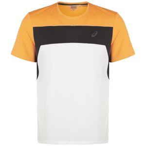 ASICS Funkčné tričko 'Race'  čierna / žltá / biela