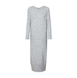 EDITED Pletené šaty 'Deena'  sivá melírovaná