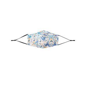 Hailys Látkové rúško 'Flower 1'  biela / žltá / tmavomodrá / svetlomodrá
