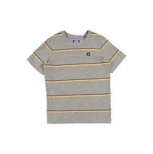 Jack & Jones Junior Tričko  žlté / sivá / čierna