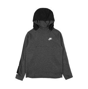 Nike Sportswear Sveter  biela / čierna / sivá melírovaná