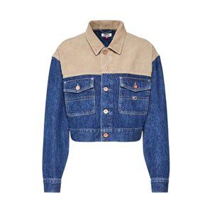 Tommy Jeans Prechodná bunda 'Cropped Trucker Jacket'  modré / béžová