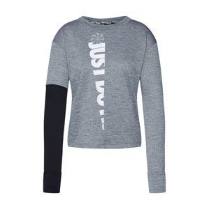 NIKE Funkčné tričko 'Therma Sphere'  biela / sivá / čierna