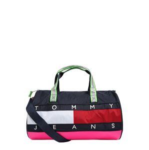 Tommy Jeans Cestovná taška 'HERITAGE DUFFLE'  ružová / tmavomodrá