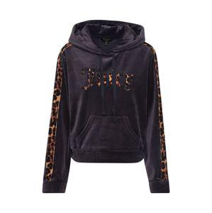 Juicy Couture Black Label Mikina 'LEOPARD JUICY LOGO'  čierna