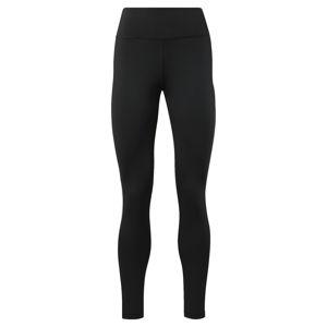 REEBOK Športové nohavice  biela melírovaná / sivá / čierna