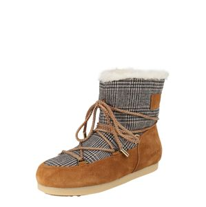 MOON BOOT Snehule 'MB FAR SIDE LOW FUR/TARTAN'  hnedé