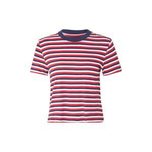Tommy Jeans Tričko  červená / biela / námornícka modrá