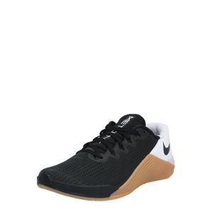 NIKE Športová obuv 'NIKE METCON 5'  biela / čierna / hnedé