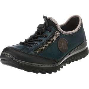 RIEKER Šnurovacie topánky  tmavosivá / petrolejová / čierna