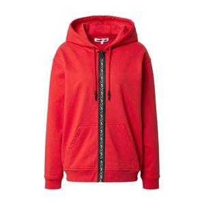 McQ Alexander McQueen Tepláková bunda 'Boyfriend'  červená / čierna