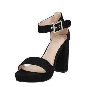 ABOUT YOU Remienkové sandále  čierna