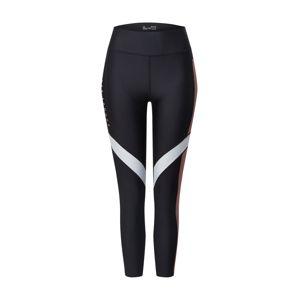 UNDER ARMOUR Športové nohavice  čierna / ružová / biela