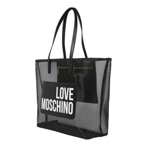 Love Moschino Shopper 'BORSA FABRIC+PU NERO'  čierna