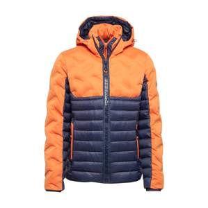 Superdry Prechodná bunda 'RADAR FUJI'  tmavomodrá / oranžová