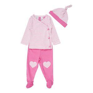 Carter's Set 'S20 G LBB 3PC Set Pink'  ružová / biela