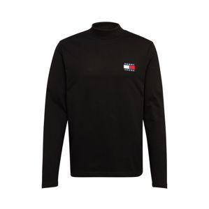 Tommy Jeans Tričko 'MOCK NECK'  čierna