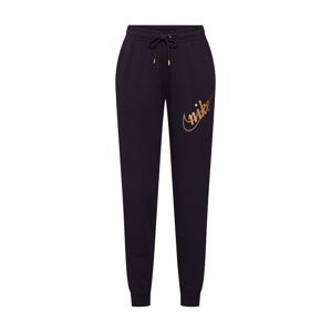 Nike Sportswear Nohavice  zlatá / čierna