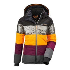 KILLTEC Zimná bunda 'Fiames'  antracitová / strieborná / čerešňová / žltá
