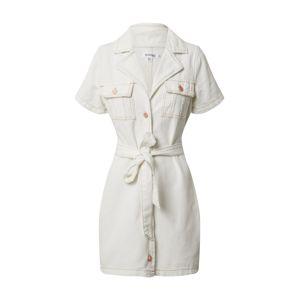 Missguided Košeľové šaty  krémová