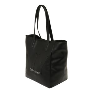 Calvin Klein Shopper 'NY SHAPED NS TOTE'  čierna