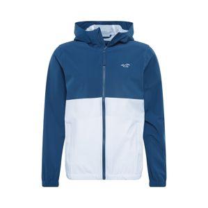 HOLLISTER Prechodná bunda  šedobiela / námornícka modrá