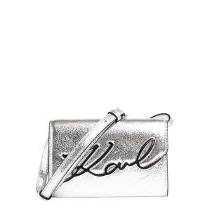 Karl Lagerfeld Taška cez rameno 'signature'  strieborná
