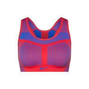 NIKE Športová podprsenka 'FE/NOM Flyknit High Support Sports Bra'  modré / červené