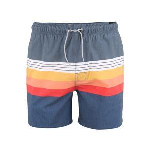 RIP CURL Plavecké šortky 'VOLLEY'  svetločervená / námornícka modrá / oranžová
