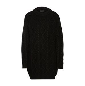 Funky Buddha Pletené šaty  čierna