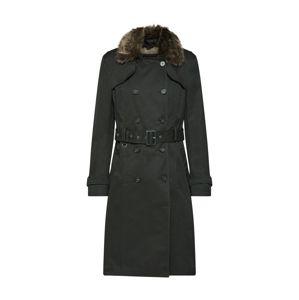 RINO & PELLE Prechodný kabát  hnedé / jedľová