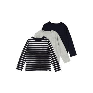 GAP Tričko  biela / tmavomodrá / sivá