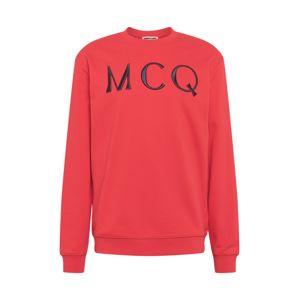 McQ Alexander McQueen Mikina  červená / čierna