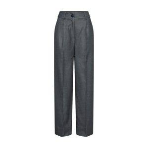 EDITED Plisované nohavice 'Neville'  sivá melírovaná