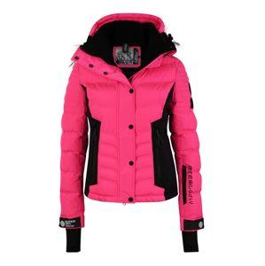 Superdry Snow Outdoorová bunda 'LUXE SNOW PUFFER'  ružová / čierna